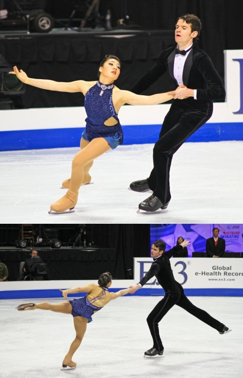 Christina Guterres and Justin Schumann skating to the Quantum of Solace soundtrack for their long program at the 2010 Novice US Nationals. Photos by trilby23.