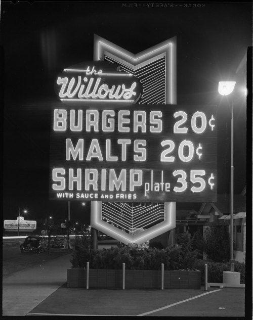 mpdrolet:  The Willows Burgers and Malts, 1955 Joseph Fadler