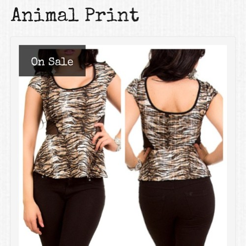 Animal Print Top ::Only $8 @ www.uglyboutique.com #uglyboutique #uglyfashion #fashion #instafashion #completeyourlookhere #tops #shirt #casual #sexy #shirt #club #style #stylish #ladies #boutique #animal #affordable #sale #shopping