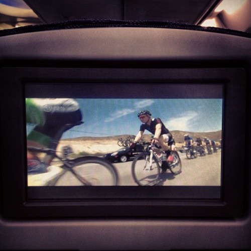 When was the last time you got to watch #cycling on a plane?!?! #statebicycleco  (at Phoenix Sky Harbor International Airport (PHX))