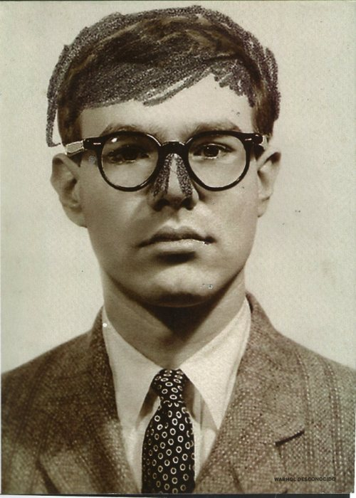 catchhellblog:  Self-Portrait (Passport Photograph with Altered Nose), 1956© The Andy Warhol Foundation for the Visual Arts, Inc.