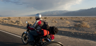 That is me, riding through Death Valley