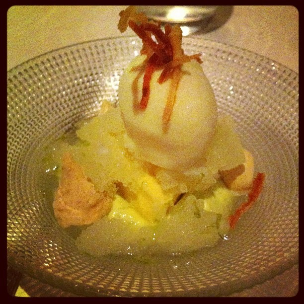 Pre-dessert with pandan custard. Very citrusy (at Rockpool)