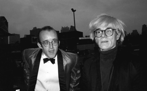 @KeithHaring and #AndyWarhol at #Madonna and Sean Penn's wedding in Malibu, CA on August 16, 1985