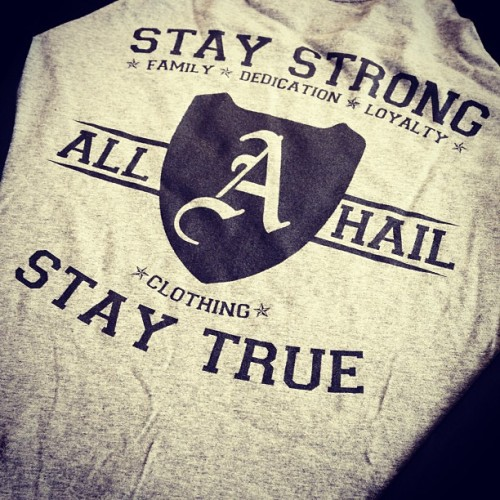 Stay Strong. Stay True. http://bit.ly/Tt4XBv #shopindie #shopsmall #shop #indie #Independent #apparel #clothing #fashion #tee #tshirt #baseball #design #sale