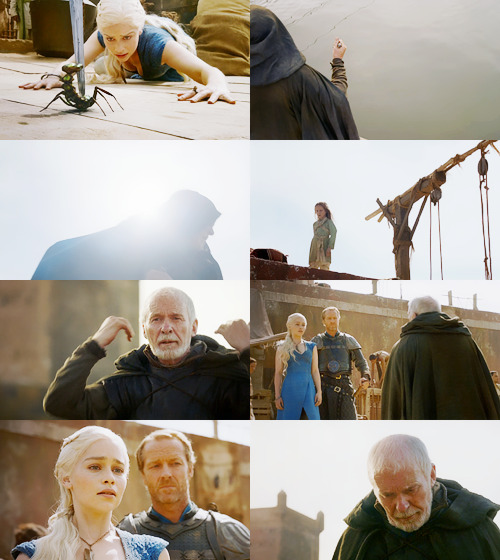 I have been searching for you, Daenerys Stormborn, to ask your forgiveness. I was sworn to protect your family. I failed them. I am Barristan Selmy, Kingsguard to your father. Allow me to join your Queensguard and I will not fail you again.