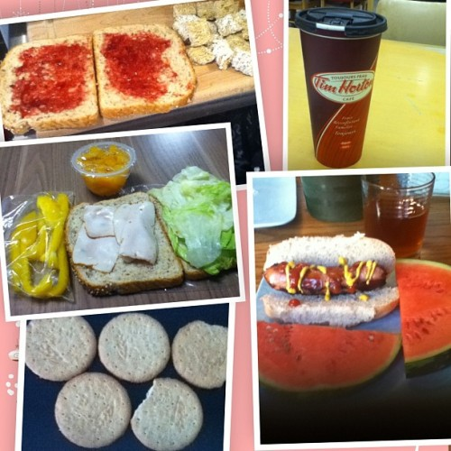 My #breakfast #breadwithjam #cereal)#lunch #peaches #sandwiches #pepper #lettuce #turkey #snack #digestivebiscuit #large #steepedtea #tripletriple #supper #hotdog #watermelon#may15#wednesday#instadaily #instafood #hkiger #hkgirl #fooddiary #yummy #food #lifestyle #hkig#healthy