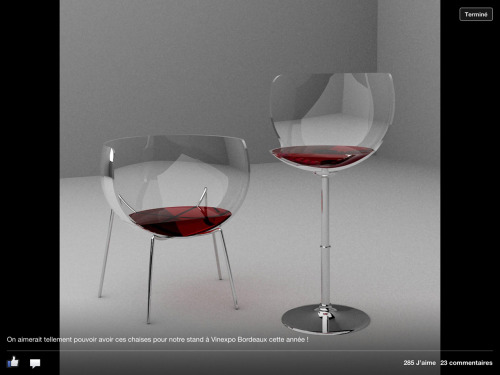 Love these chairs…..have a glass!