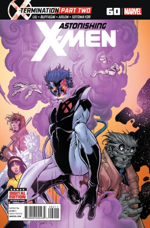 Astonishing X-Men v3 #60, May 2013, written by Marjorie Liu, David Lapham and Greg Pak, penciled by Matteo Buffagni and Renato Arlem