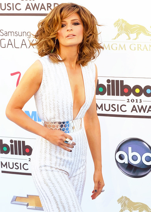 Stana Katic arriving at Billboard Music Awards red carpet, May 18, 2013