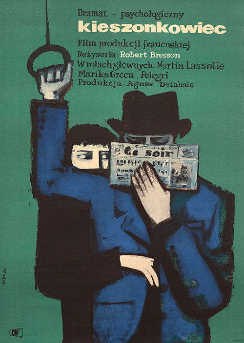 Polish Poster for Pickpocket (Robert Bresson, 1959)