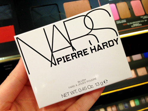 The Pierre Hardy for NARS blush is gorgeous!