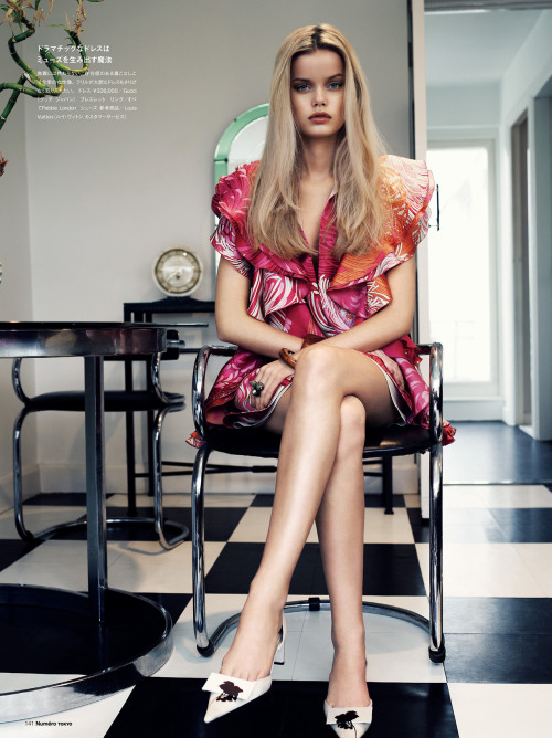 opaqueglitter:  NUMÉRO Tokyo #64 March 2013: In The Modd Model : Frida Aasen Photographer: Jonas Bresnan Stylist: Zoe James More from this editorial.