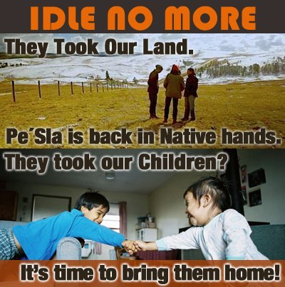 "lakotapeopleslawproject:  South Dakota's #NDNs are IDLE NO MORE! ICWA Directors and 7 of 9 tribal councils have sent a report to Congress exposing the illegal seizure of thousands of Native children by the Department of Social Services! Want to know more? Tune in to NPR's ""All Things Considered"" tomorrow for the full story. Also SHARE this status, SIGN our petition to Congress, and READ the report:www.lakotalaw.org"