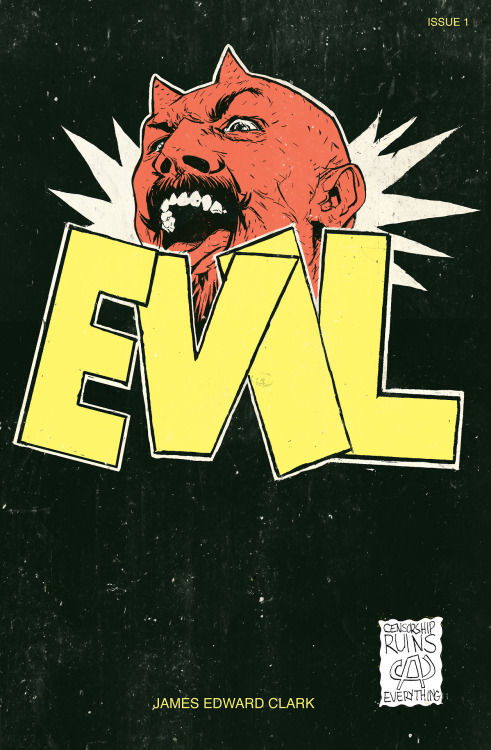 jamesedwardclark:  EVIL COMICS- AVAILABLE NOW! 28 pages+ cover, full color. Collects the entire Samson The Destroyer- At Midnight I Will Feed Your Bitch To Demons saga thus far. Written, drawn, colored and lettered (as well as cut/bound) by James Edward Clark. If you'd like to order a copy you can send $5 (plus $2 shipping and handling ($4 for outside of North America)) to my PAYPAL account using my email jamesedwardclark@gmail.com For $20 (plus shipping and handling) I'll be offering a special package including a signed copy of EVIL and a original sketch in ink of anything you'd like. Be sure to include your address with your order and what you would like me to draw for you if you order the special package. *please reblog this if you dig my art*