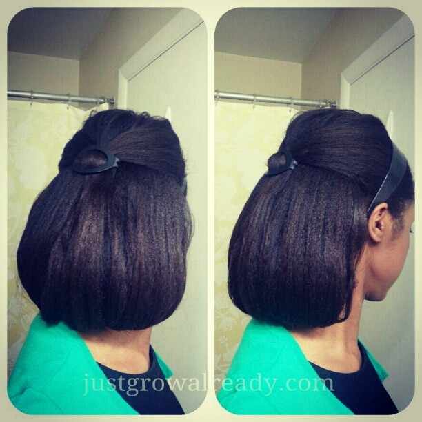 A bob kinda day. Done on airdried hair. #justgrowalready #healthyhair #relaxedhair
