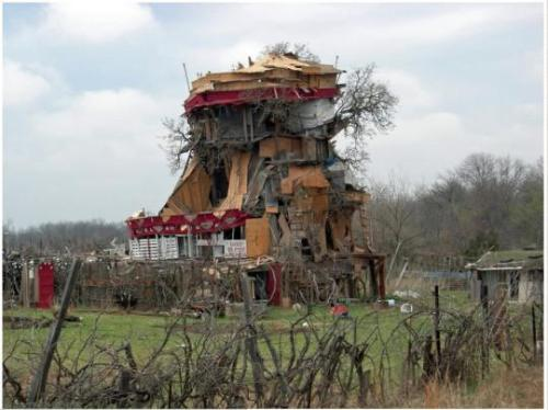 5,000 Square Foot Treehouse Made Out of Junk.