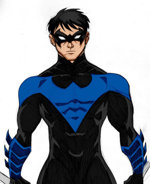 thehappysorceress:  Nightwing by Luciano Vecchio, color by Kenkira