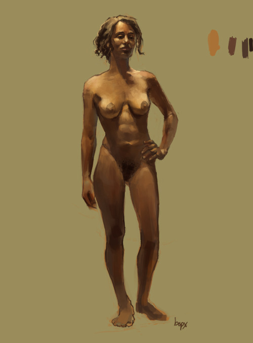 First day of Digital Figure Painting classsss. Done from a live model. ~5 hrs