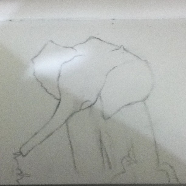 Working on a drawing for a friend :) #elephant #drawing #awesome #art #pencil