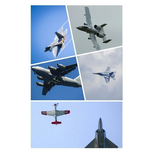 Aircraft photos I shot last summer.  #usaf #navy #avgeek #aviation #aircraft #globemaster #hornet #thunderbolt #raptor #vintage #warbird #P-51
