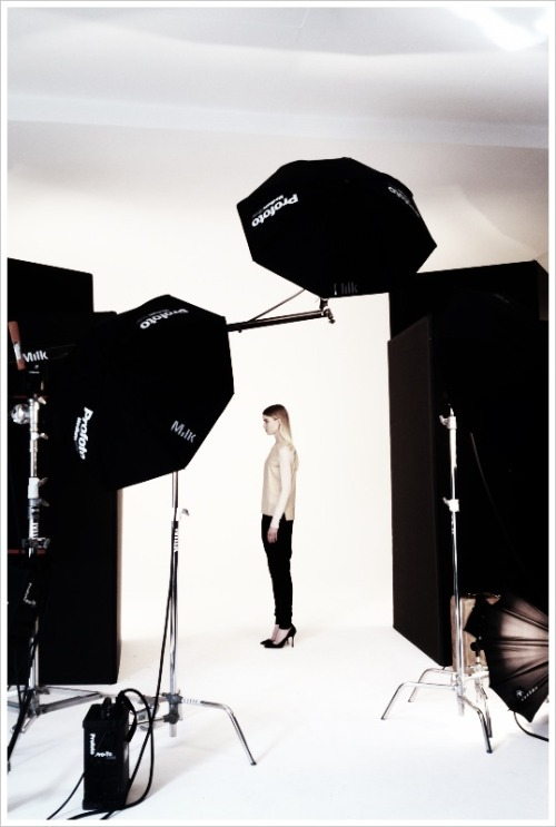 ON SET Shooting Fall 2013 for helmutlang.com