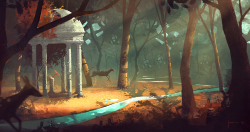 Illustration for Jason Scheier class at CGMA.