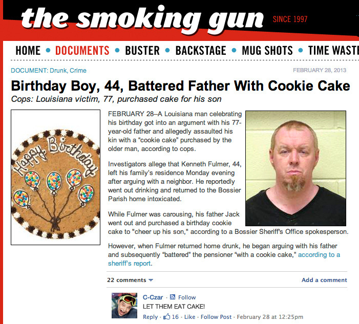 C-Czar Reacts: Birthday Boy Battered Father With Cookie Cake