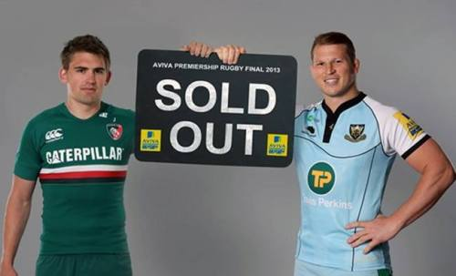 leicester-tigers-girl:  Saturday's Aviva Premiership Rugby Final at Twickenham has now been announced as a sell-out.The Final, between Leicester Tigers and Northampton Saints, will be watched by a crowd of more than 82,000 and has sold out faster than any previous Premiership Rugby Final.