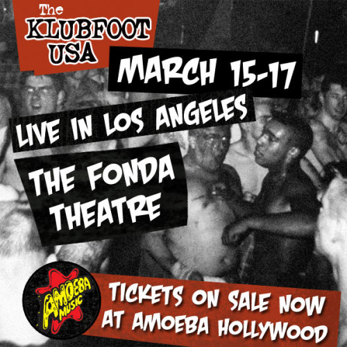 Amoeba presents Klubfoot USA, three nights of psychobilly bands playing the Fonda Theatre March 15-17! All-ages show. Tickets on sale now at Amoeba Hollywood (with our super low service fee of just $2). More info.