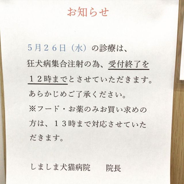 受付時間変更のお知らせ #しましま犬猫病院  https://www.instagram.com/p/CPAeg-ZlMbl/?utm_medium=tumblr #しましま犬猫病院