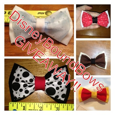 disneyboundbows:  Giveaway!!!! Must reblog and like this photo and be following my page. Giveaway ends 4/17 and you can choose any of the bows I have made on my etsy page up until it ends. #giveaway #free #disneybound #disneyboundbows #disneybounding #disneyland #disney #disneyworld #hairbows #hairaccessories #magickingdom #cinderella #winniethepooh #minniemouse #nala #cruelladevil #101dalmatians #goofy #princeeric #littlemermaid #sleepingbeauty #bowtie #dapper #newfantasyland