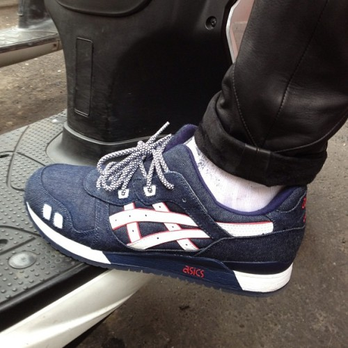 gqfashion:  Asics denim collab with Ronnie Fieg, looking mighty fine on GQ's Justin Doss. JM