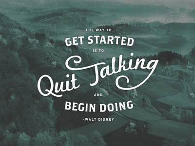 visualgraphic:  Quit Talking  hmm the irony