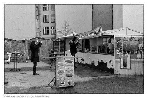 Currywurst in #Berlin the new Tourist attraction seen by #Leica #Street Photography  Flickr: http://flic.kr/p/dYVgzM
