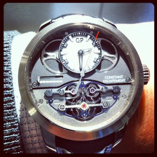 Girard Perregaux Constant Escapement LM! One of the best watches of #baselworld 2013 #basel2013 @GirardPerregaux