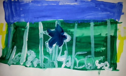 ellakat:  Football Field- Art by Ella- 7 years old