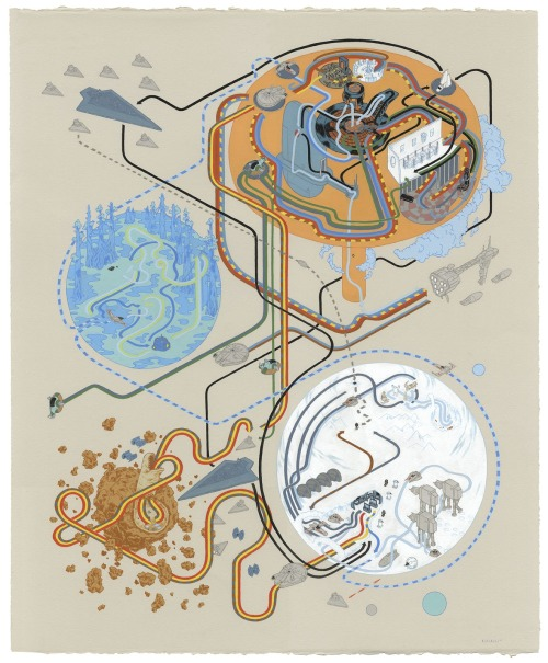 This is one of my favorite pieces in a long long time. By Andrew DeGraff.  Part of his duo show with Bennet Slater which opens tonight at Gallery 1988 Melrose.