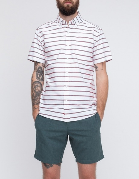 Saturdays Surf NYC Esquina Oxford shirt (red)