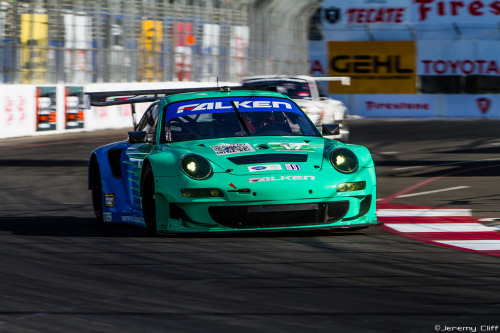 Falken Tire Porsche 911 GT3 RSR  @Toyota Grand Prix of Long Beach Image by Jeremy Cliff
