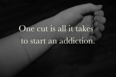 iamonlyinvisible:  One cut is all it take to start an addiction.  My bf told me i was too fat and ugly and so he dumped me. after my breakup with my bf, and him telling me i should commit suicide i thought i could be strong and be positive. today on my person fb account my 2 best friends bragged about self harming with drugs. major trigger. i broke down and cried. i cut all morning. yes SI is an addiction, its my addiction.
