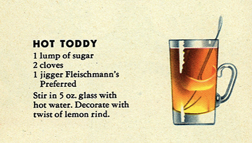 Another slight variation on the Hot Toddy recipe… circa 1960