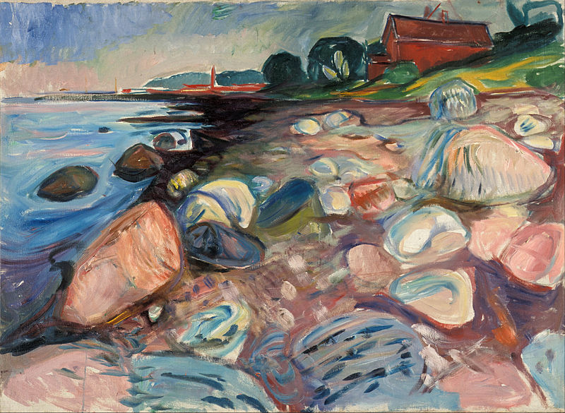 'Shore with Red House' Edvard Munch