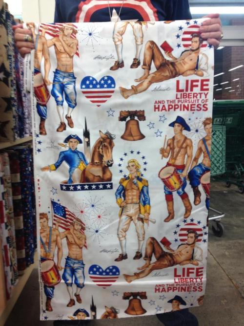 So while looking at Fourth of july stuff at Jo Ann's we found…this…yep…history just got sexy…