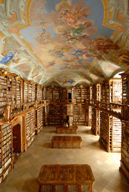 readerscorner:  Library at St. Florian Monastery, Austria