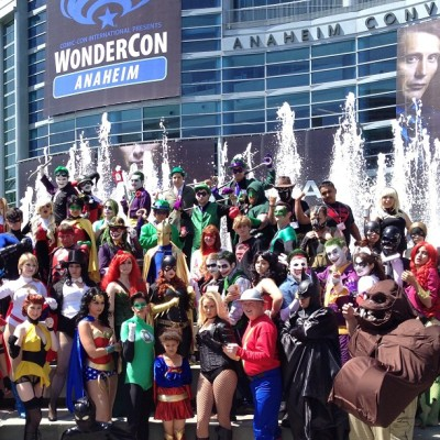 Wonder Khaaaaaaaaaaan! The biggest gathering of cosplayers here. #wondercon2013 #cosplay