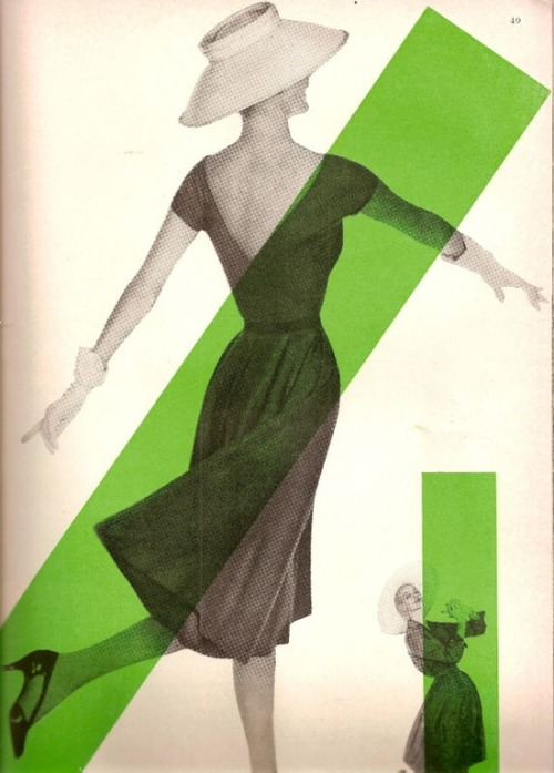 Fashion for Harper's Bazaar, 1956.