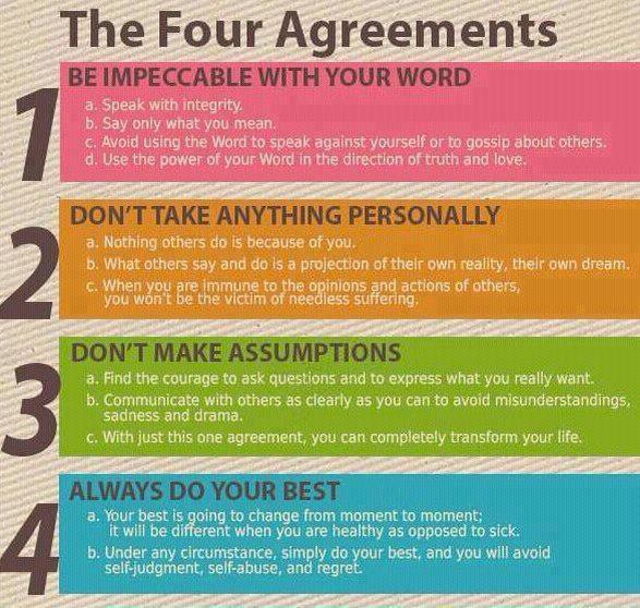 "From the book ""The Four Agreements"""
