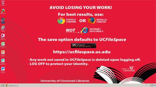 INTERNET EXPLORER DISSED AT UNIVERSITY OF CINCINNATI: NICE!   h/t Reddit