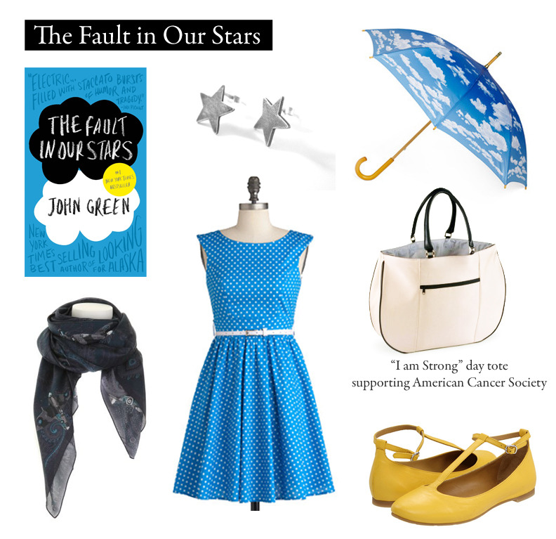 "Outfit inspired by John Green's ""The Fault in Our Stars""  ""You are so busy being YOU that you have no idea how utterly unprecedented you are.""  Azul Like It Dress 